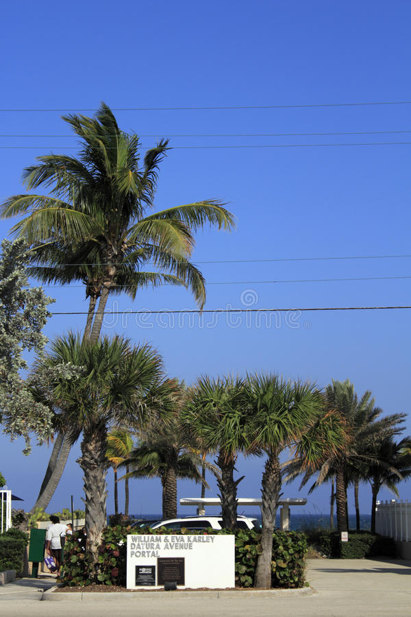 Une entrée vers un Lauderdale par la plage de mer photos stock