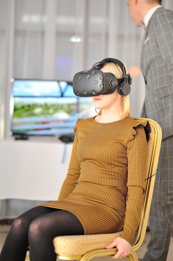 Une expérience virtuelle photos libres de droits