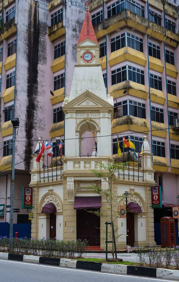 Une façade a tiré du visiteur et du centre d'information TVIC de Taiping photographie stock libre de droits