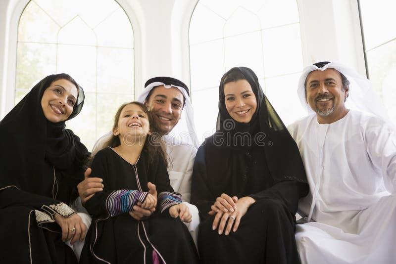 Une famille du Moyen-Orient image libre de droits
