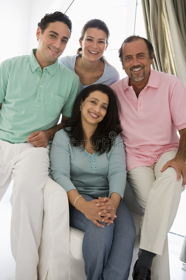 Une famille du Moyen-Orient photos libres de droits