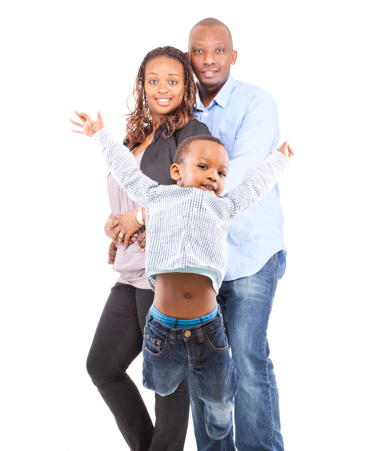 Une famille heureuse photographie stock