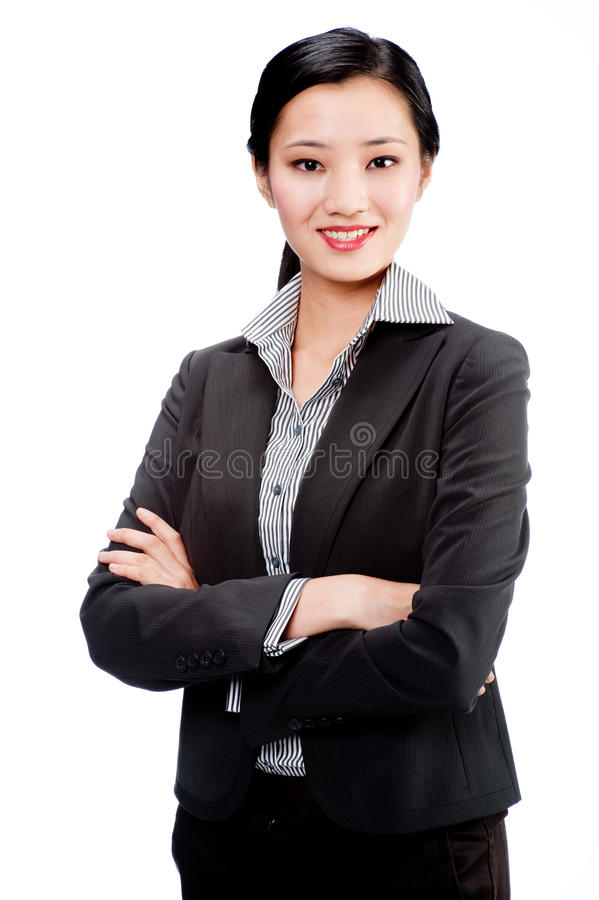Une femme d'affaires attirante images stock
