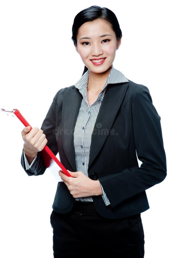 Une femme d'affaires attirante image stock