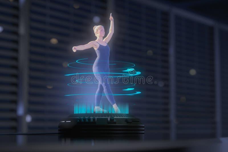 Une femme d'hologramme danse illustration stock