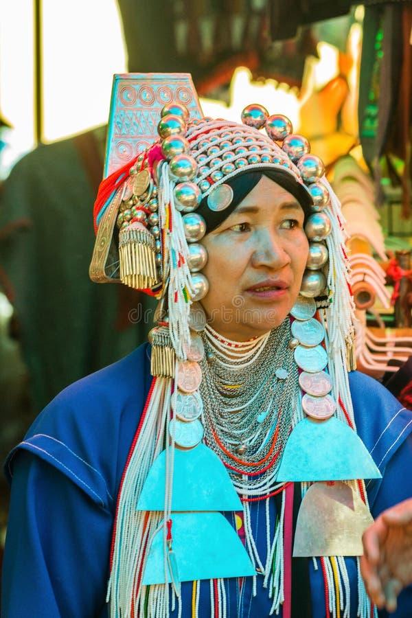 Une femme de hilltribe d'Akha photo libre de droits