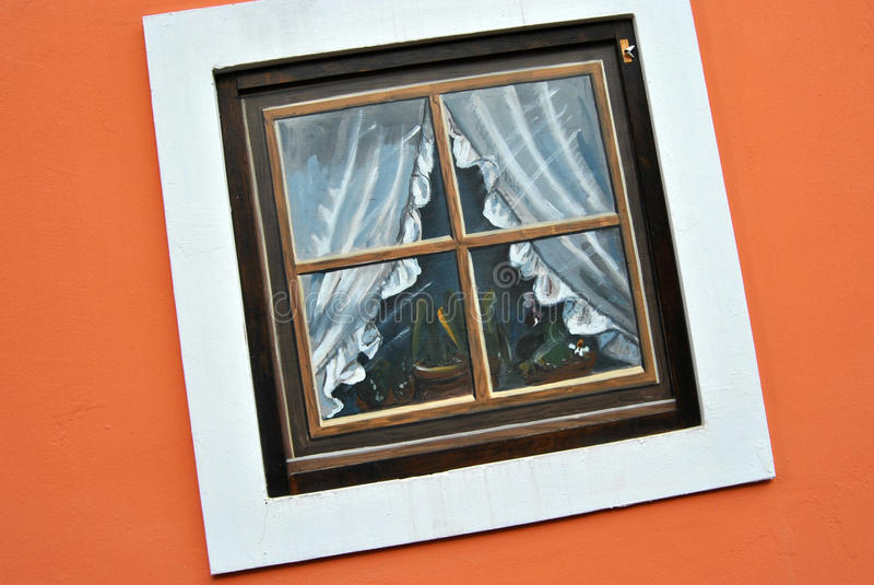Une fenêtre étrange photos stock