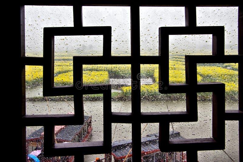 Une fenêtre de style chinois photo libre de droits