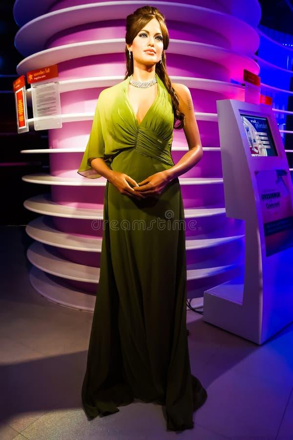 Une figure de cire d'Angelina Jolie au musée de cire de Madame Tussauds photographie stock libre de droits