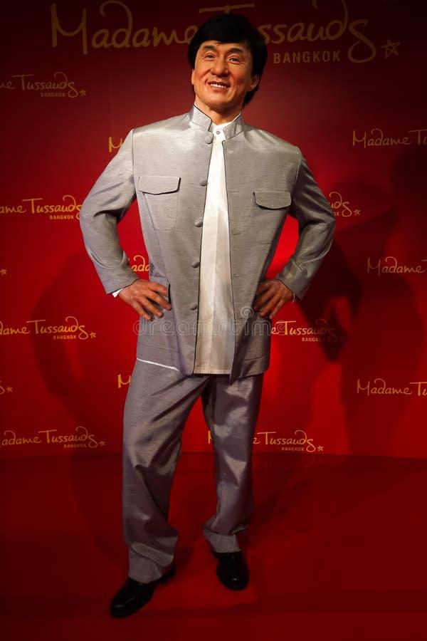 Une figure de cire de Jackie Chan au musée de cire de Madame Tussauds photos libres de droits