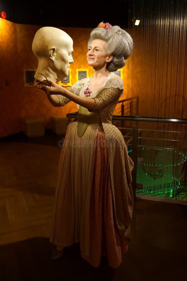Une figure de cire de Madame Marie Tussaud au musée de cire de Madame Tussauds photos stock