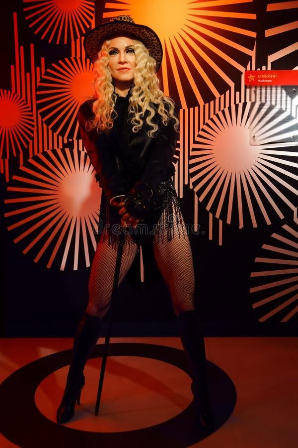 Une figure de cire de Madonna au musée de cire de Madame Tussauds photo libre de droits