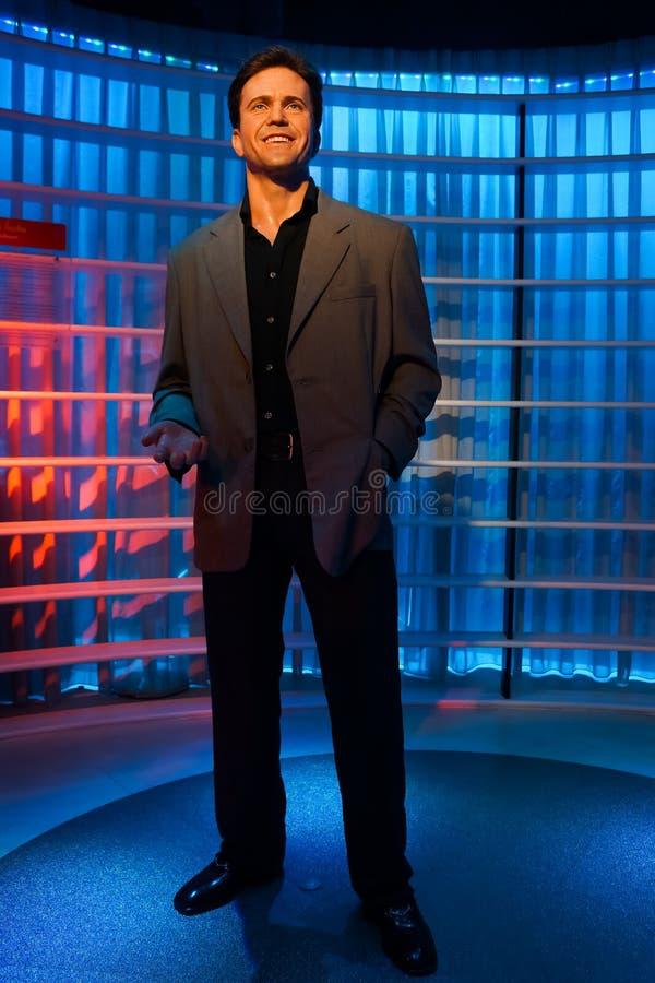 Une figure de cire de Mel Gibson au musée de cire de Madame Tussauds photos stock