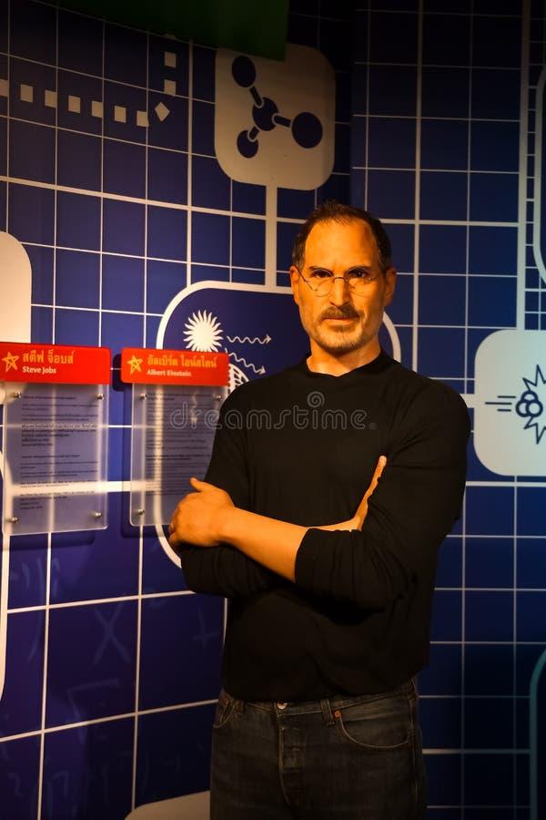 Une figure de cire de Steve Jobs au musée de cire de Madame Tussauds images libres de droits
