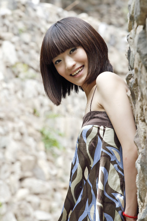 Une fille chinoise image stock