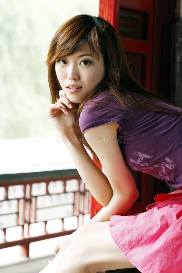 Une fille chinoise photographie stock libre de droits