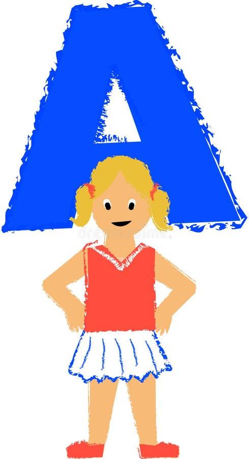 Une fille/ENV illustration libre de droits