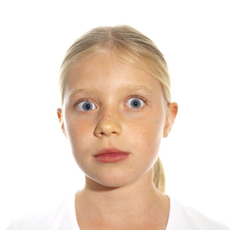 Une fille fâchée photographie stock libre de droits