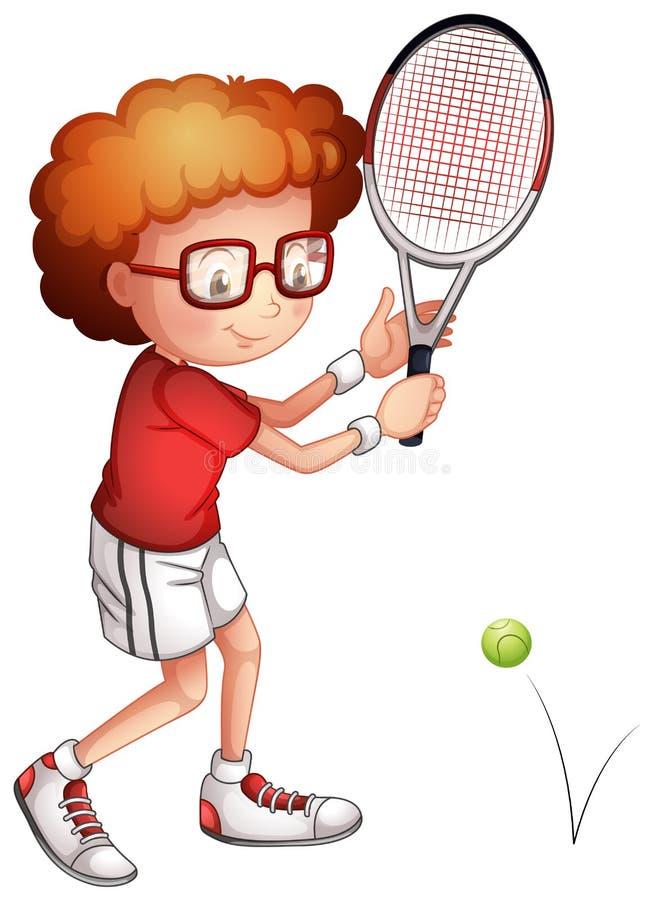Une fille jouant le tennis illustration stock
