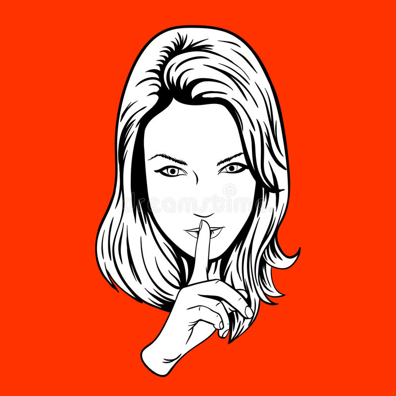 Une fille plus calme illustration libre de droits