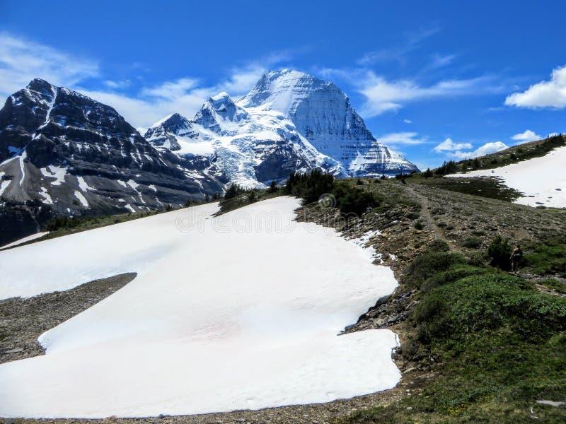 Une fonte de neige le long du chemin de la traînée de lac berg photo stock
