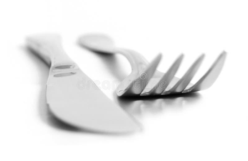 Une fourchette et un couteau image libre de droits