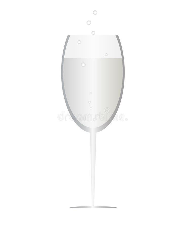 Une glace de champagne illustration de vecteur