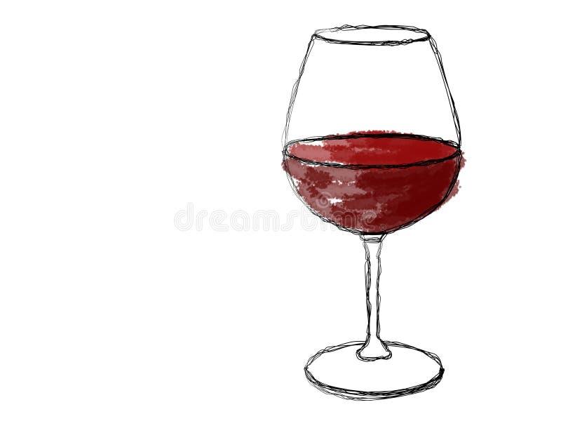 Une glace de vin illustration stock