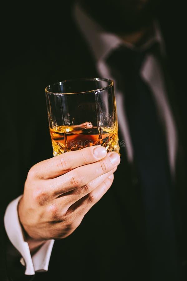 Une glace de whiskey photos libres de droits
