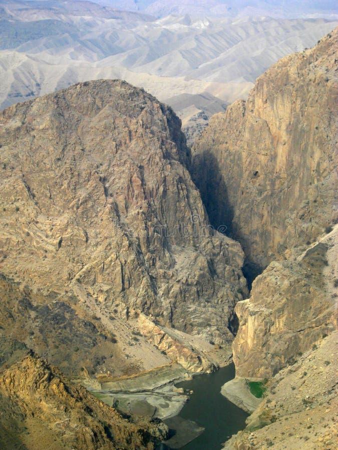 Une gorge énorme de fleuve en Afghanistan oriental photo stock