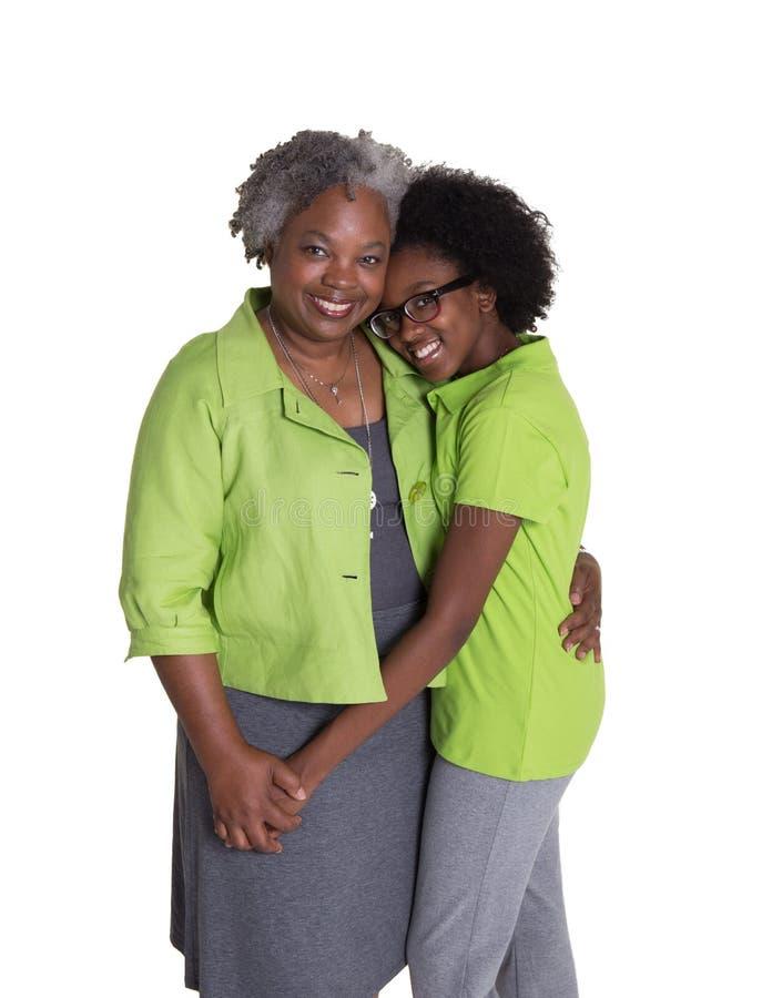 Une grand-mère et sa petite-fille image libre de droits