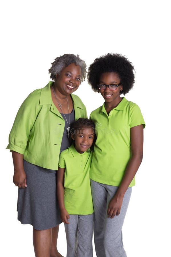 Une grand-mère et ses 2 petite-filles photos libres de droits
