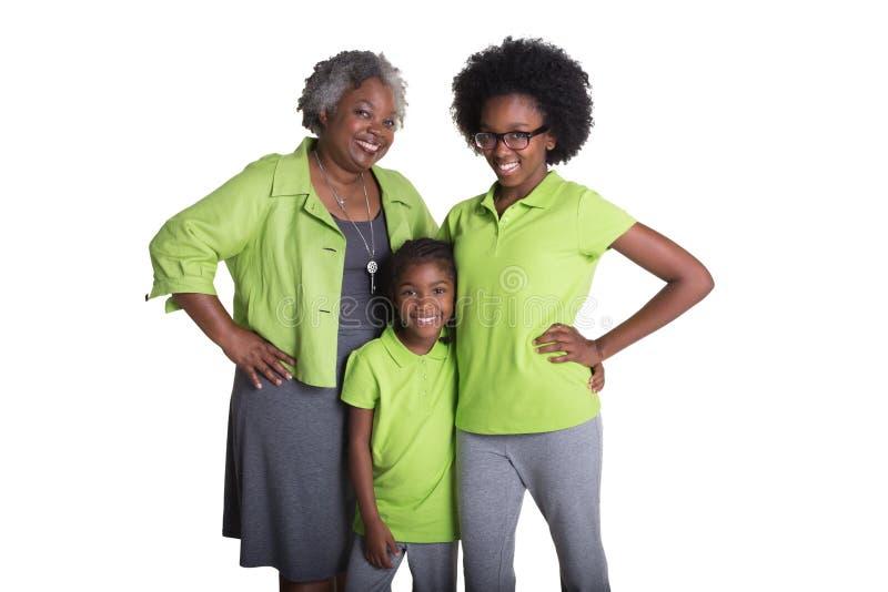 Une grand-mère et ses 2 petite-filles photo libre de droits