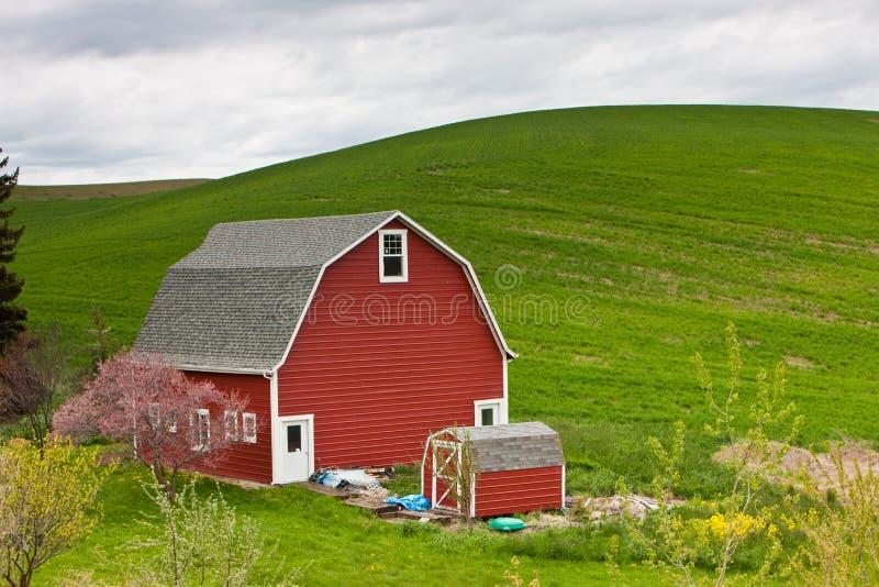 Une grange dans Palouse, Washington photo libre de droits