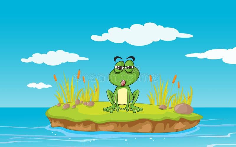 Une grenouille et une eau illustration libre de droits