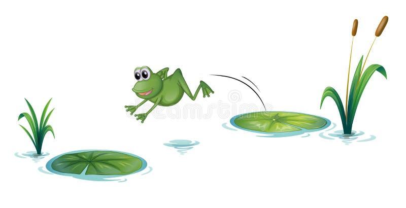 Une grenouille sautante illustration stock