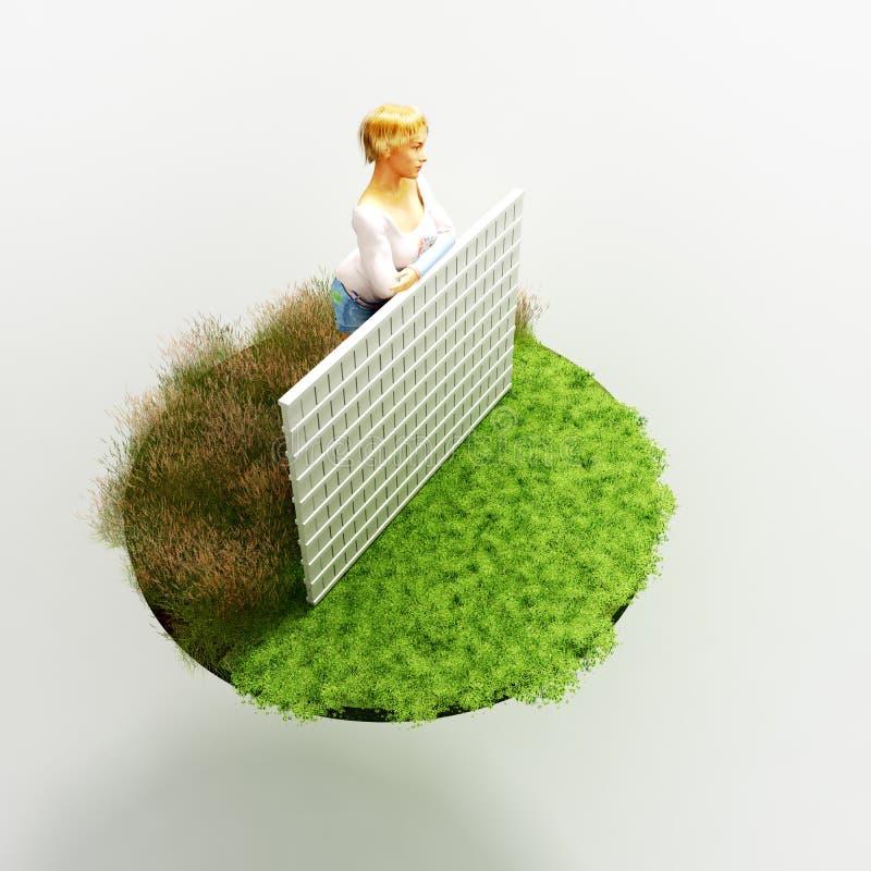 Une herbe plus verte illustration de vecteur