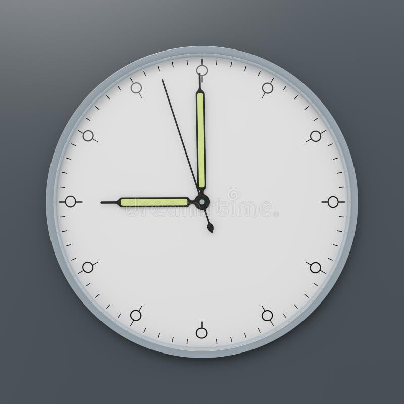 Une horloge montre neuf heures illustration de vecteur