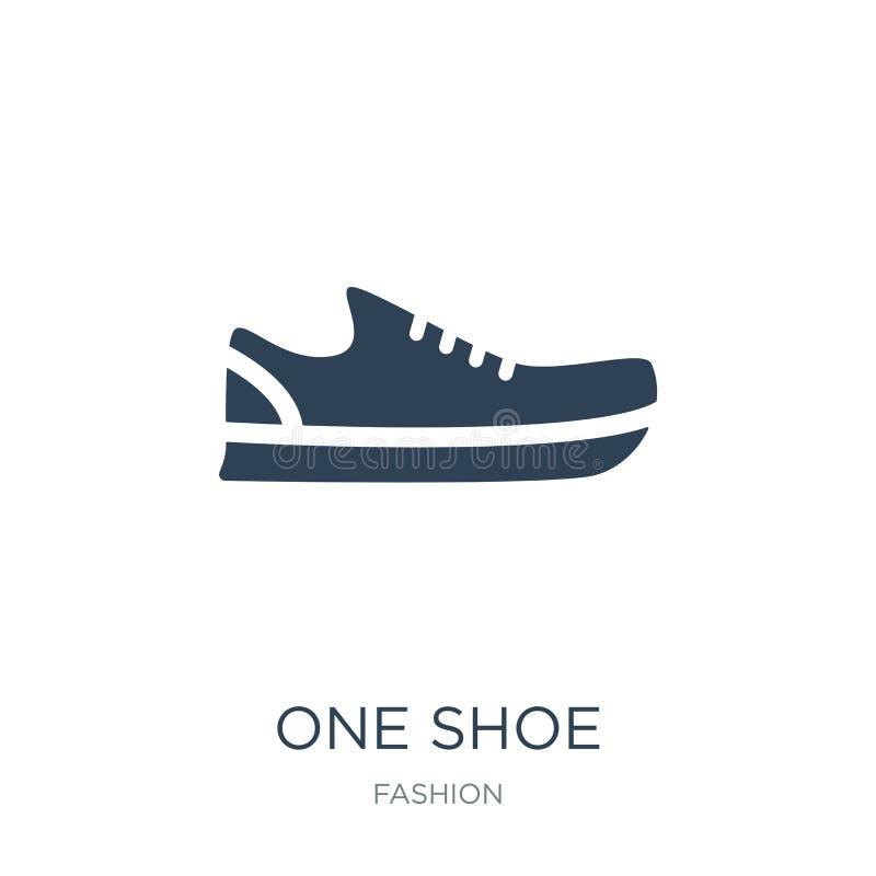 une icône de chaussure dans le style à la mode de conception une icône de chaussure d'isolement sur le fond blanc appartement sim illustration stock