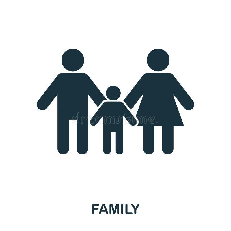 une icône de famille Apps mobiles, impression et plus d'utilisation L'élément simple chantent Monochrome une illustration d'icône illustration libre de droits