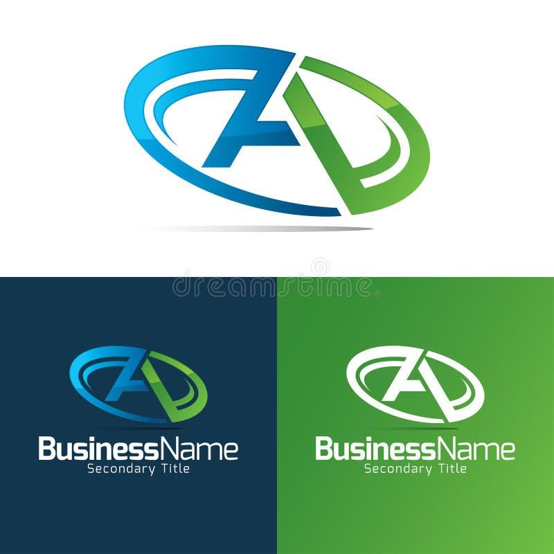Une icône et un logo de lettre illustration stock