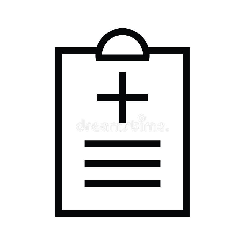 Une icône médicale de presse-papiers de santé avec la ligne style illustration stock