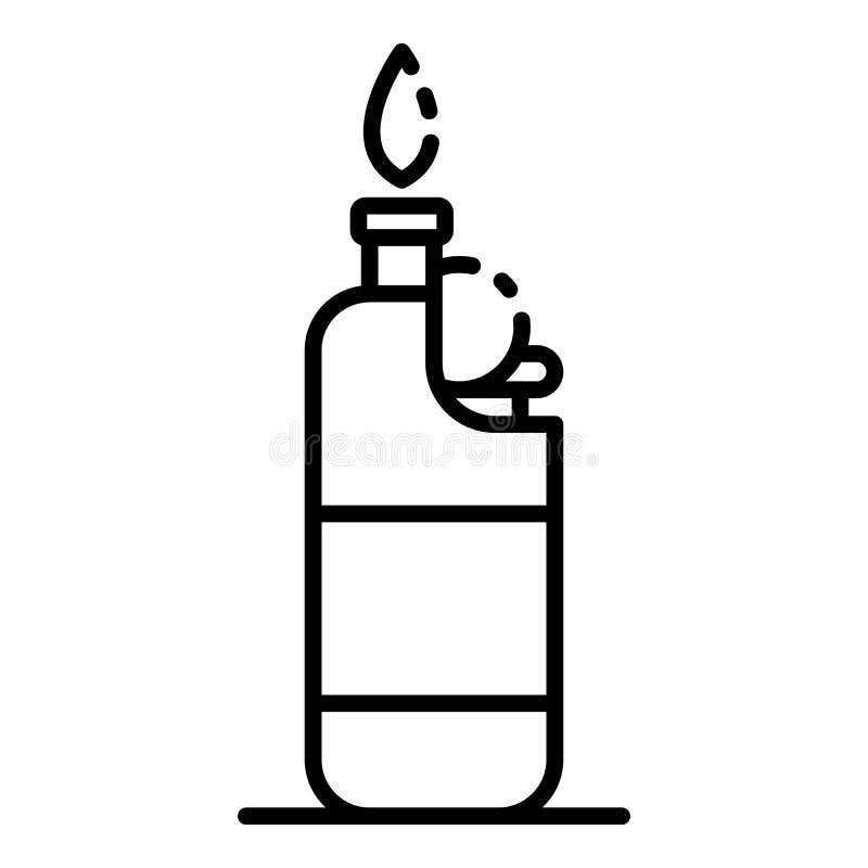 Une icône plus légère de cigarette en plastique, style d'ensemble illustration de vecteur