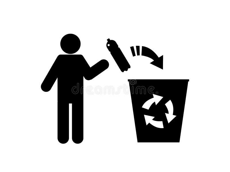 Une illustration conceptuelle de la pollution du monde avec les déchets en plastique illustration stock