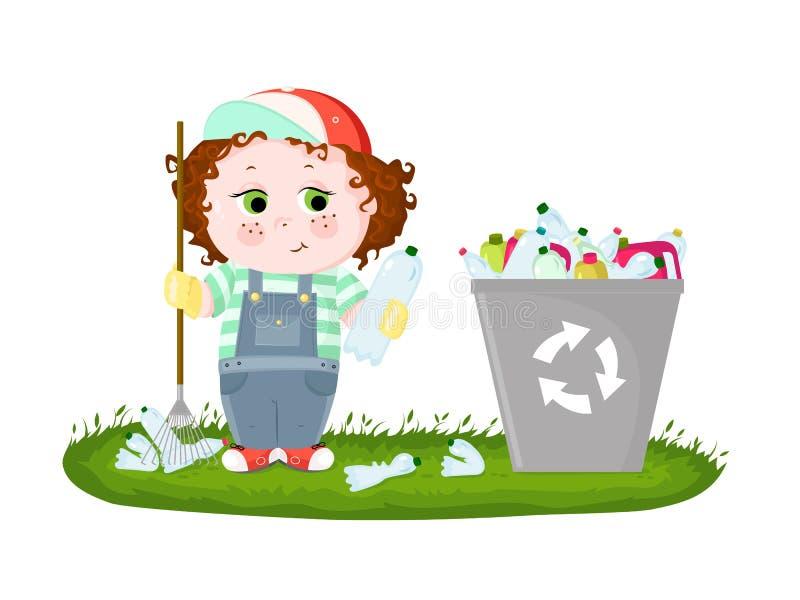 Une illustration conceptuelle de la pollution du monde avec les d?chets en plastique illustration stock