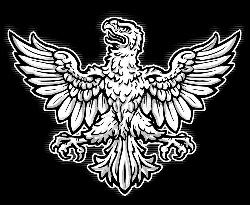 Eagle héraldique illustration stock