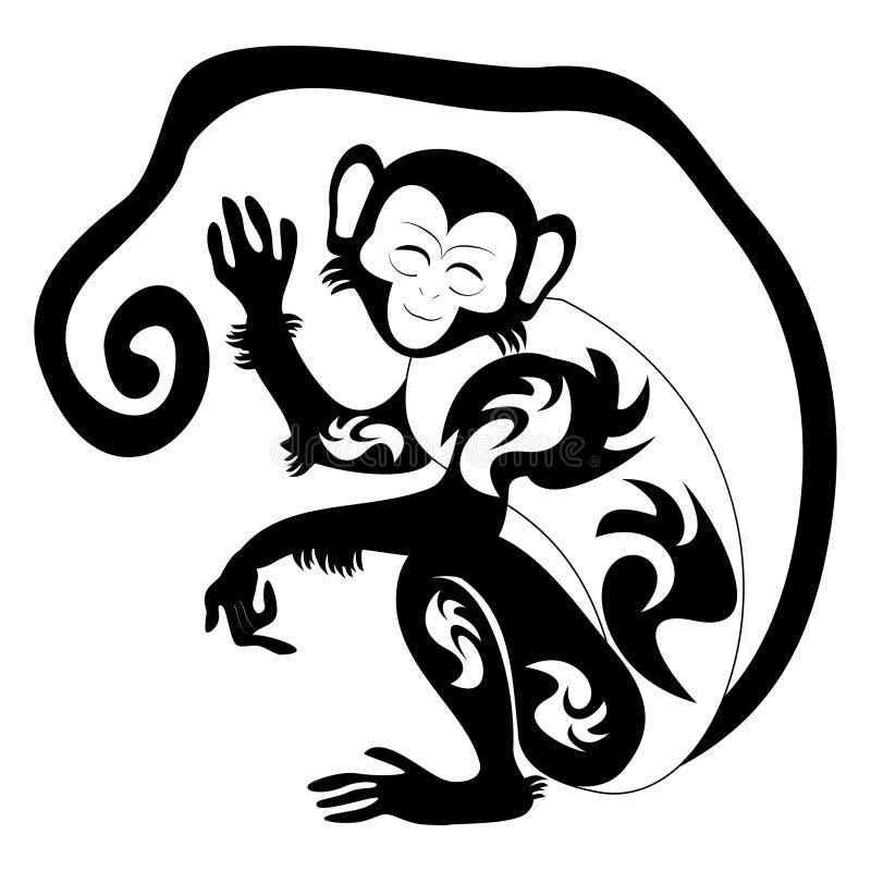 Une illustration d'un singe stylisé illustration libre de droits