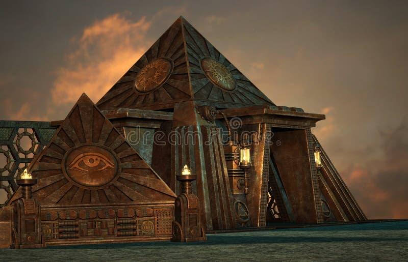 Pyramides illustration de vecteur