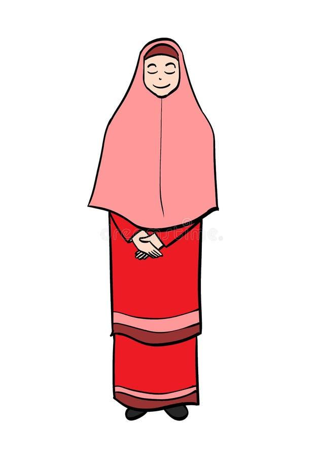 Une illustration de femme de musulmans photo libre de droits