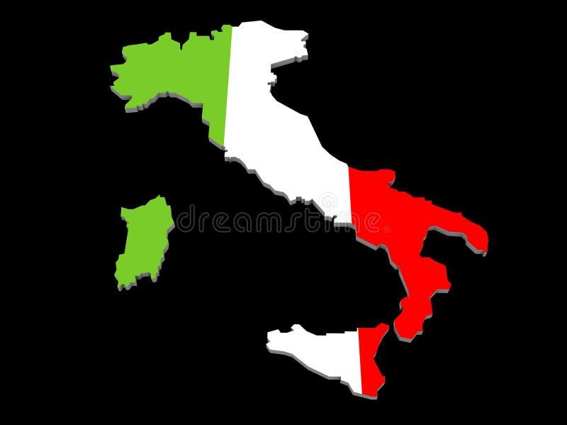 Une illustration de la carte et de l'indicateur italiens illustration libre de droits